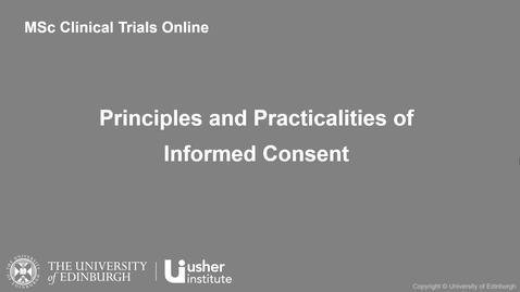 Thumbnail for entry ERCCT - Principles and Practicalities of Informed Consent