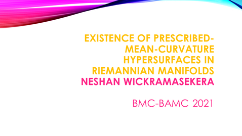 Thumbnail for entry BMC BAMC 2021 Neshan Wickramasekera