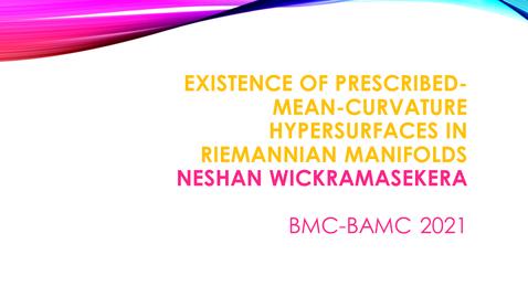 Thumbnail for entry BMC BAMC 2021 Neshan Wickramasekera