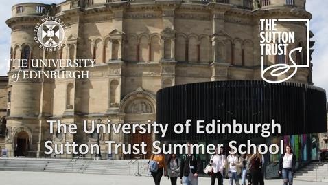 Thumbnail for entry Sutton Trust Summer School 2017