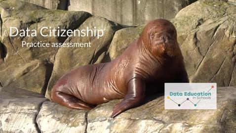 Thumbnail for entry Data Citizenship Level 4-5 Zoo activity part 1