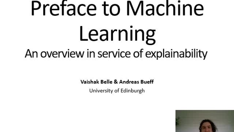 Thumbnail for entry XAI Lecture Recording - Preface to ML (Introduction)