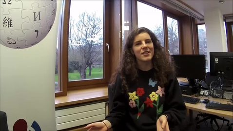 Thumbnail for entry Wikipedia in the Classroom - Interview with Aine Kavanagh (Reproductive Biology Hons. student)