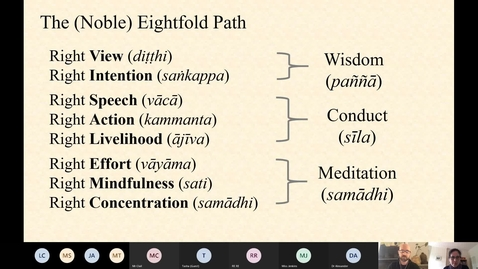 Thumbnail for entry Introduction to Key Concepts 4: Eightfold Path and Five Precepts