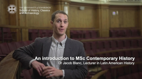 Thumbnail for entry An introduction to MSc Contemporary History