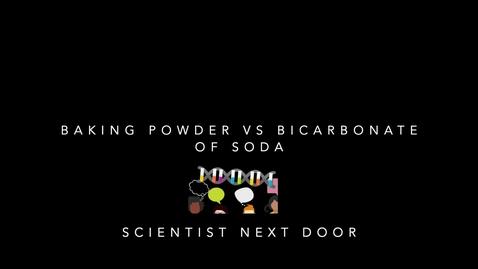 Thumbnail for entry Baking powder vs Bicarbonate of soda