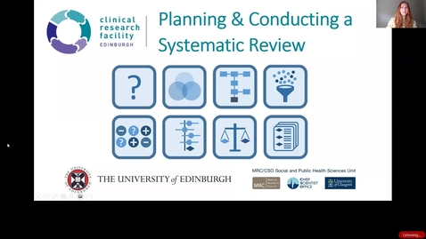 Thumbnail for entry INTRODUCTION I – What are systematic reviews?  - Anne Martin