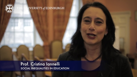 Thumbnail for entry Christina Iannelli-Social Inequalities In Education-Research In A Nutshell-The Moray House School of Education-16/06/2015