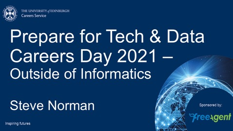 Thumbnail for entry Prepare for Tech & Data Careers Day 2021 when youre not from Informatics