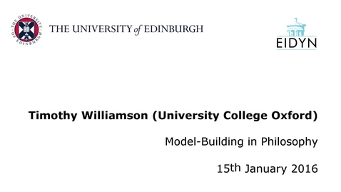 Thumbnail for entry Timothy Williamson: Model-Building in Philosophy