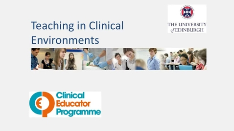 Thumbnail for entry Teaching in Clinical Environments 110321
