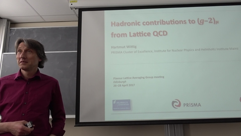 Thumbnail for entry Hartmut Wittig (Mainz): Hadronic Contributions to (g-2) from Lattice QCD