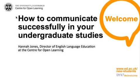 Thumbnail for entry (UG) ELE and IAD: How-to Communicate Successfully in Your Academic Studies