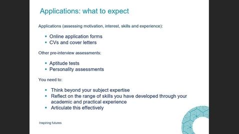 Thumbnail for entry (Masters session CMVM & CSCE) Professional profile CVs, apps, statements (for developing students)