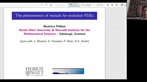 Thumbnail for entry The phenomenon of dispersive revivals - Beatrice Pelloni