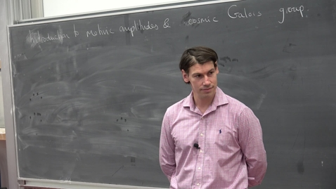Thumbnail for entry Amplitudes 2017 Conference: Francis Brown - Introduction to motivic amplitudes and cosmic Galois group
