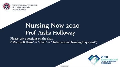 Thumbnail for entry International Nurses Day 2020 event - Nursing Now 2020