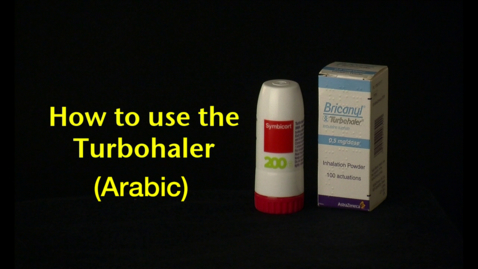 Thumbnail for entry How to use the Turbohaler (Arabic)