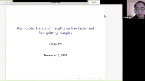 Thumbnail for entry Bounds on asymptotic translation length on free factor and free splitting complexes - Chenxi Wu