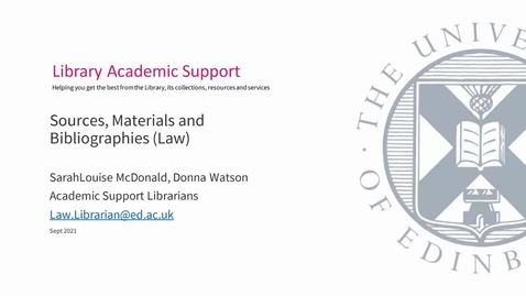 Thumbnail for entry PhD Law - Sources, Materials, Bibliography - Sept 2021