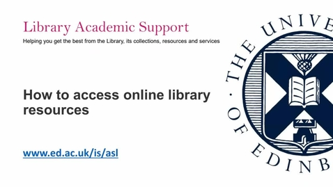 Thumbnail for entry (PG) How to access online library resources