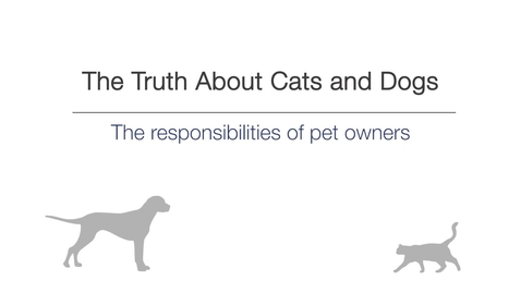 Thumbnail for entry Week 1 - The responsibilities of pet owners