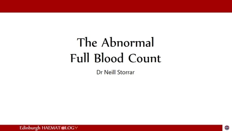 Thumbnail for entry FBC 1 - Other abnormalities