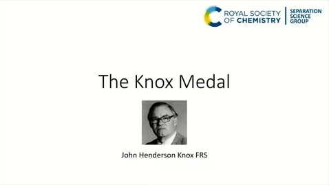 Thumbnail for entry John Langley - The Knox Medal