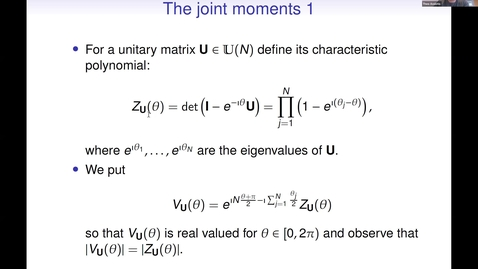 Thumbnail for entry On the joint moments of characteristic polynomials of random unitary matrices - Theo Assiotis
