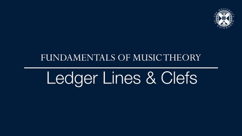 Thumbnail for entry Fundamentals of music theory - Ledger lines and clefs
