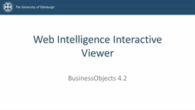 Thumbnail for entry SAP BusinessObjects 4.2 - Video 3 - Web Intelligence Interactive Viewer