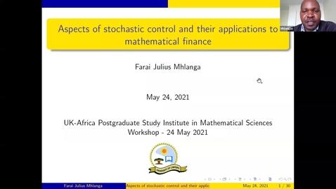 Thumbnail for entry UK-APASI in Mathematical Sciences - Farai Mhlanga