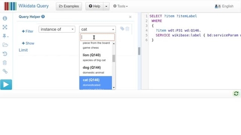 Thumbnail for entry Wikidata Query  - Query Helper