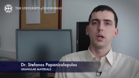 Thumbnail for entry Stefanos Papanicolopulous- Granular Materials - Research In A Nutshell - School of Engineering -08/04/2014