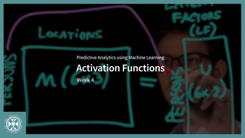 Thumbnail for entry Activation Functions