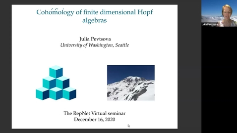 Thumbnail for entry December 16 Julia Pevtsova Cohomology of finite dimensional Hopf algebras