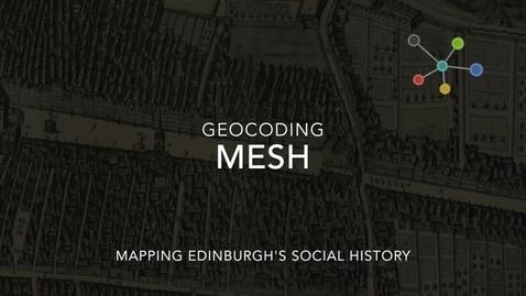 Thumbnail for entry MESH: Geocoder