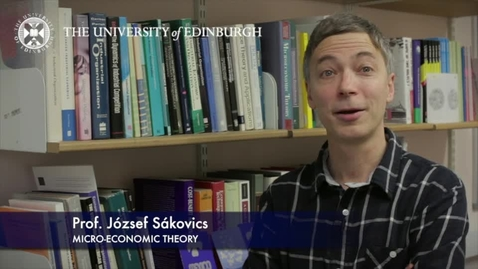 Thumbnail for entry Jozsef Sakovics-Micro-Economic Theory-Research In A Nutshell-School of Economics-13/03/2013