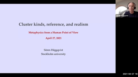 Thumbnail for entry Perspectival Realism - Day 2 - Session 3 - Sören Haggqvist - Cluster kinds, reference, and scientific realism