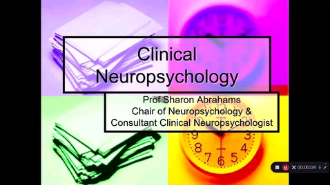 Thumbnail for entry What is Neuropsychology with captions