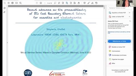 Thumbnail for entry Waves in Complex Continua (Wavinar): Stéphanie Chaillat-Loseille (ENSTA Paris, France)