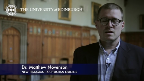 Thumbnail for entry Matthew Novenson- New Testament & Christian Origins -Research In A Nutshell-School of Divinity-21/10/2012