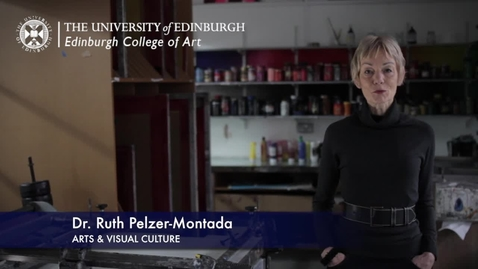 Thumbnail for entry Ruth Pelzer Montada -Arts & Visual Culture- Research In A Nutshell-Edinburgh College of Art-11/03/2013
