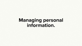 Thumbnail for entry Managing personal information