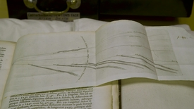 Thumbnail for entry A comet moving around the sun, by Isaac Newton
