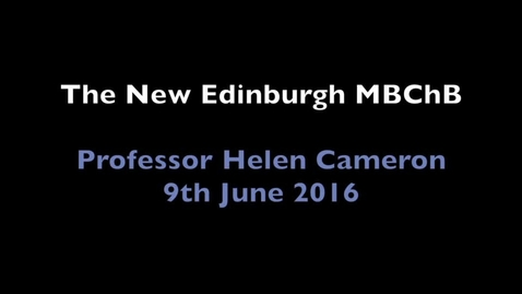 Thumbnail for entry New MBChB Introduction HSC June 16