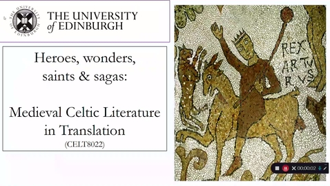 Thumbnail for entry Celtic & Scottish Studies_ CELT8022_Heroes & Wonders stand-alone CAPTIONED intro (Dr Kate Mathis)