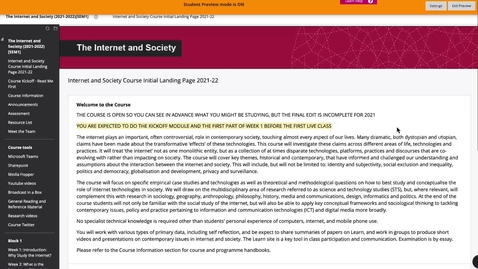Thumbnail for entry Tour of the online materials - Internet and Society 2021
