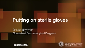 Thumbnail for entry Putting on sterile gloves VIMEO (2017 remake)