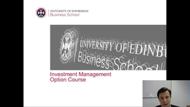 Thumbnail for entry Investment Management Intro